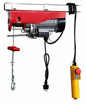 Palan AREBOS Treuil à câble électrique Treuil-Palan électrique 400/800 kg