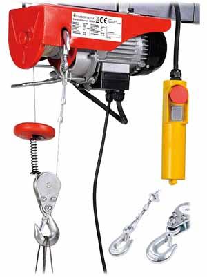 Palan Électrique Timbertech avec Télécommande 100 kg/200 kg 230V